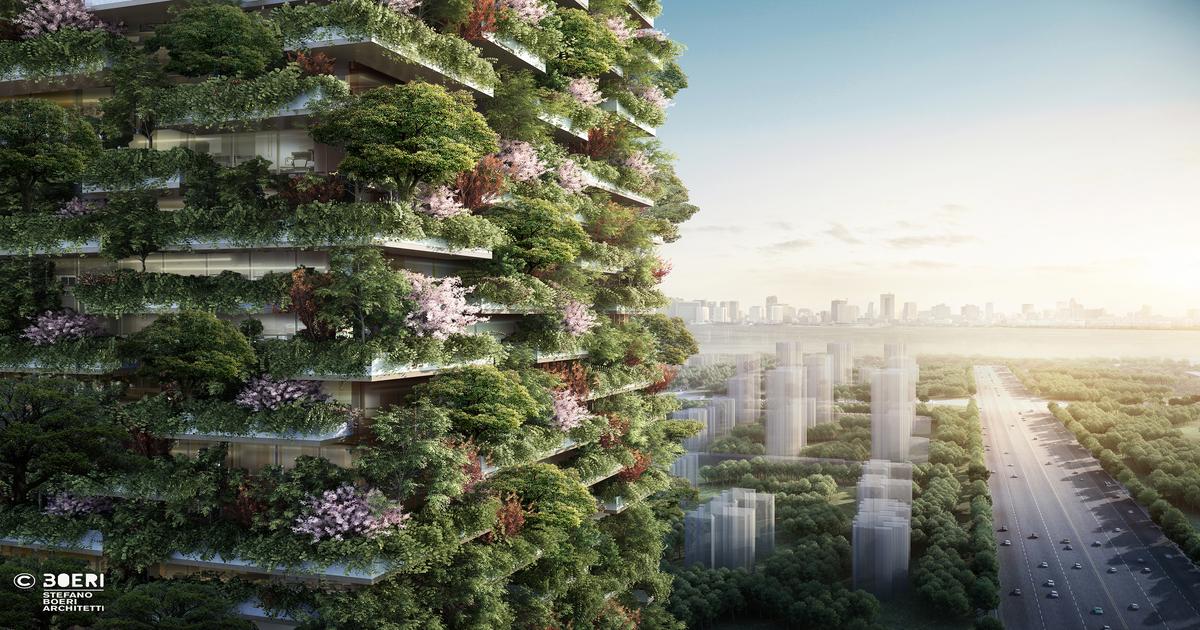 Stefano Boeri Architetti_Nanjing Vertical Forest RenderForest_China