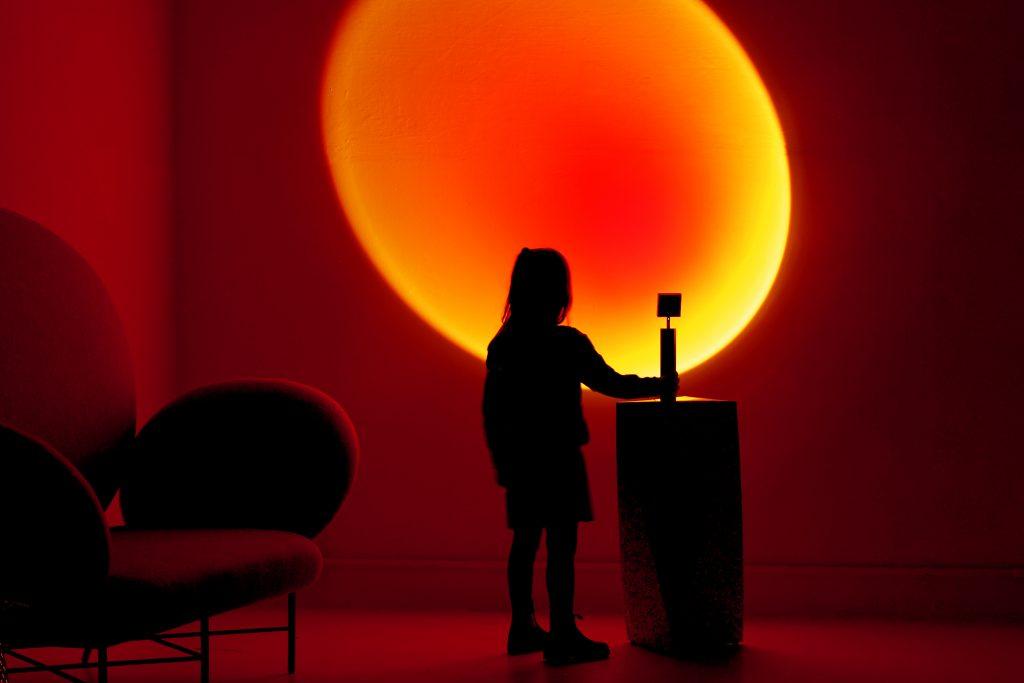Halo Up by Mandalaki - Sunset Red