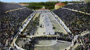Il Panathinaiko, lo stadio di Atene dove nel 1896 si svolsero le prime Olimpiadi dell'era moderna