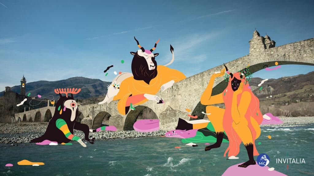 Bobbio (PC) - Illustrazione di Giulia Ripa – Wipa