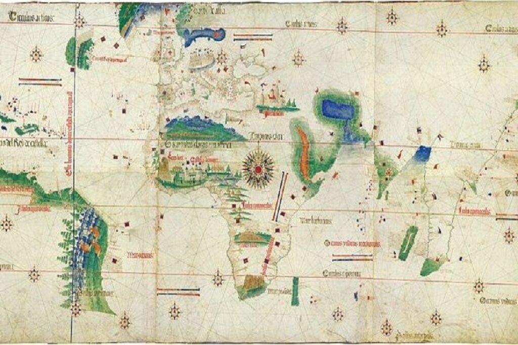 Planisfero di Cantino, 1502, autore sconosciuto - Modena, Biblioteca Estense